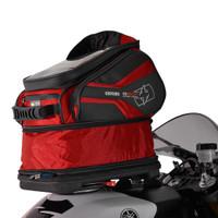 Oxford Q30R QR Tank Bag Red On Bike View