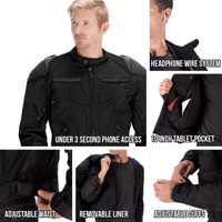 Viking Cycle Asger Motorcycle Jacket for Men Black All in One View