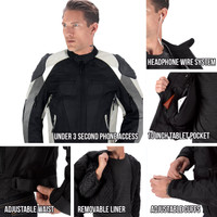 Viking Cycle Asger Motorcycle Jacket for Men All in One View