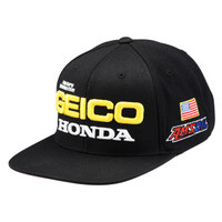 100% Team Geico Honda Podium Snapback Hat Black