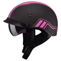 GMax GM65 Twin Full Dressed Half Helmet Pink