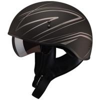 GMax GM65 Naked Torque Half Helmet Silver