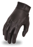 First Classics Ladies Flame Embroidered Leather  Glove