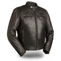 First classics Carbon Men's Black Scooter Jacket