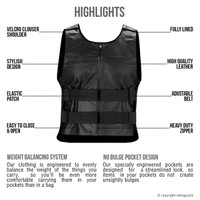 Viking Cycle Bullet Proof Style Motorcycle Vest for Men highlights