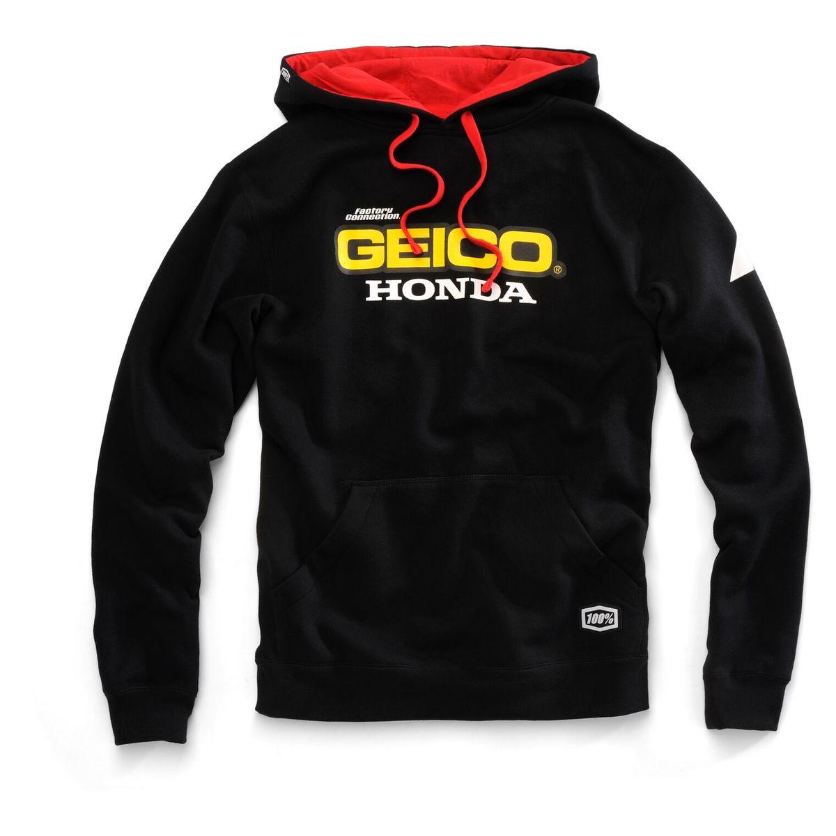15f36c5f27d 100% Team Geico Honda Base Hoody - Motorcycle House