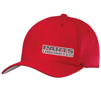 Throttle Threads Red Curved Pu Cap