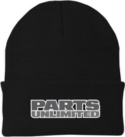 Throttle Threads Fleece Pu Beanie Black