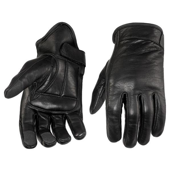 Viking Cycle Men's Premium Leather Standard Motorcycle Cruiser Gloves