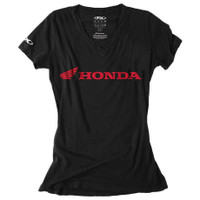 Factory Effex Honda Horizontal V-Neck Women's T-Shirt