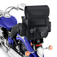 Nomad USA Revival Series Motorcycle Sissy Bar Bag  On Bike Zoom View