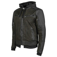 Speed & Strength Men's Straight Savage Leather-Canvas Jacket