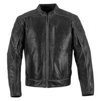Black Brand Men's Carry On Leather Jacket Main View