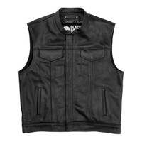 Black Brand Men's Club Kooltek Leather Vest Main View
