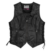 Black Brand Women's Janelle Leather Vest Main View