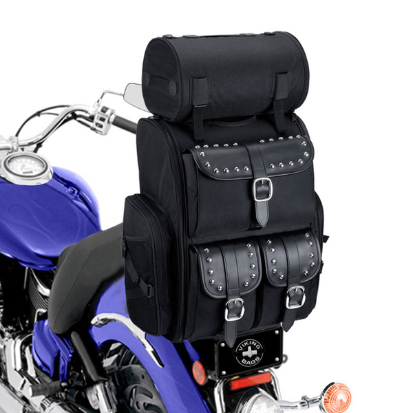 Vikingbags Extra Large Studded Motorcycle Sissy Bar Bag