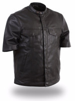 First Classics Renegade Men's Short Sleeve Leather Shirt