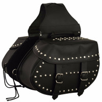 FMC Genuine Leather Studded Saddlebags