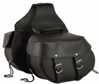 FMC Genuine Leather Double Straps Saddlebags