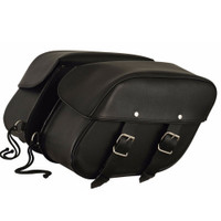 FMC Top Quality Leather Double Straps Saddlebags