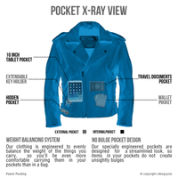 Viking Cycle Dark Age Motorcycle Jacket for Men X-Ray View