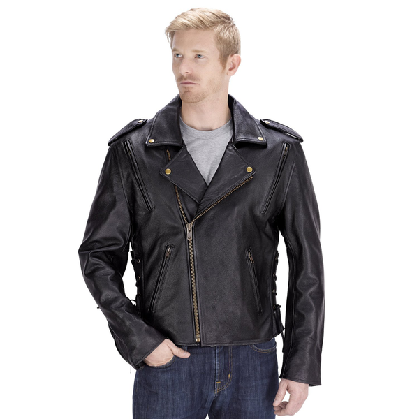 Viking Cycle Dark Age Motorcycle Jacket for Men Front View