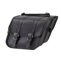 Willie & Max Braided Compact Slant Saddlebag Set- SB707B