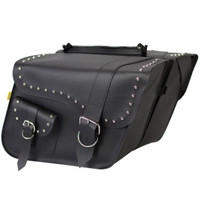 Willie & Max Studded Large Slant Saddlebags