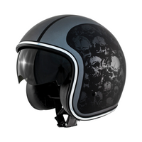 Zox Route 80 Skulls Open Face Helmet