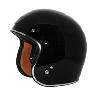 Zox Route 80 Vintage Solid Open Face Helmet Black View