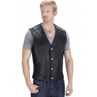 Viking Cycle Five Cent Motorcycle Vest for Men Front Side