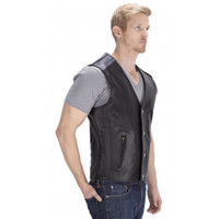Viking Cycle Five Cent Motorcycle Vest for Men Side View