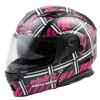 G-Max MD-01 Pink Ribbon Riders Helmet Main View