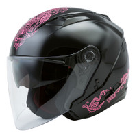 G-Max OF-77 Open Face Eternal Helmet For Women's
