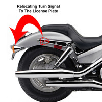 Chrome Universal Turn Signal Relocation kit 2