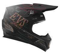 EVS T5 Fink Off Road Helmet For Men's Matte Black View