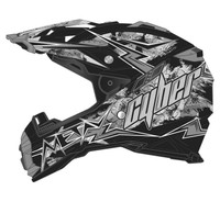Cyber UX-28 Lightning Off Road Helmets For Men's Black/Silver View
