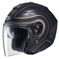 HJC IS-33 II Apus Open Face Helmet For Men Gold/Black View