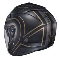 HJC IS-33 II Apus Open Face Helmet For Men Gold/Black Back View