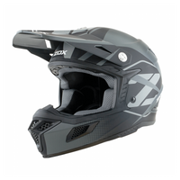 Zox MX10 Fuse Off Road Helmet For Men Matte Silver View