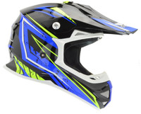 Vega VRX Graphic Off Road Helmet For Men's Blue View