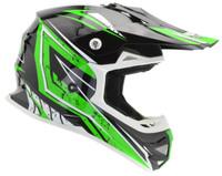 Vega VRX Graphic Off Road Helmet For Men's Green View