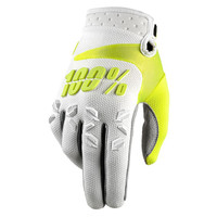 100 % Airmatic Off Road Gloves For Men White Neon View