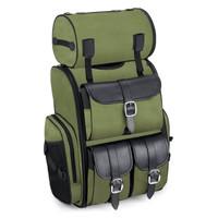 Viking Extra Large Plain Green Motorcycle Sissy Bar Bag