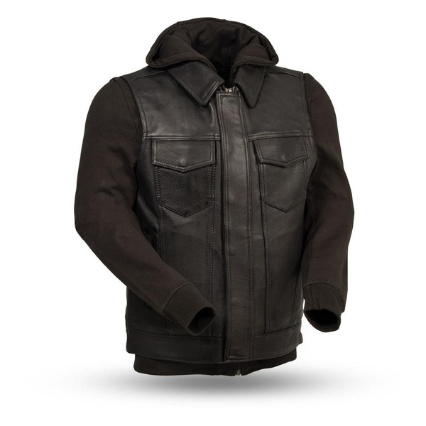 First Classics Kent Leather Vest With Hoody