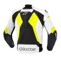Alpinetars Celer Leather Jacket Yellow Back Side View