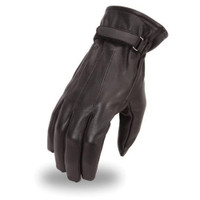 First Racing Patrol Gloves with Adjustable Velcro Strap Black Main View