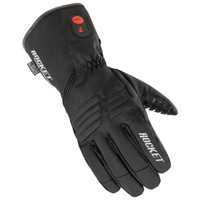 Joe Rocket Rocket Burner Heated Gloves Black Front Side View