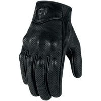 Icon Pursuit Gloves Black Front