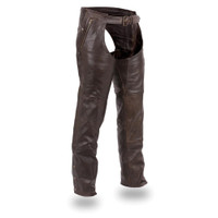 First Classics Soft Naked Touch Brown Cowhide Leather Chap for Men